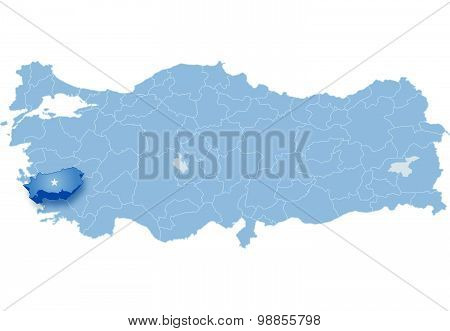 Map Of Turkey, Aydin
