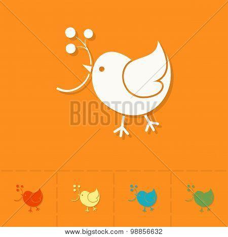 Bird with Viburnum