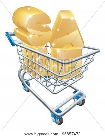Sale Shopping Cart Concept