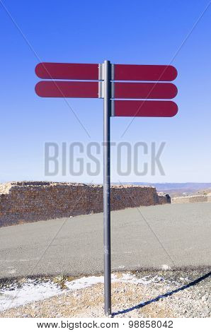 Signpost In Red