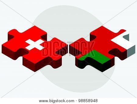 Switzerland And Oman Flags