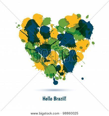 Vector Brazil Background.
