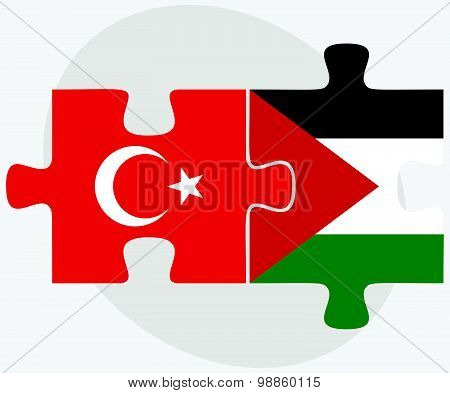 Turkey And Palestine Flags