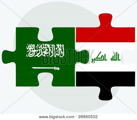 Saudi Arabia And Iraq Flags