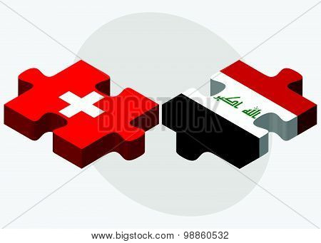Switzerland And Iraq Flags