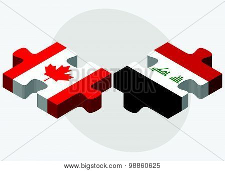 Canada And Iraq Flags