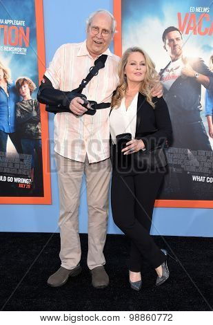 LOS ANGELES - JUL 27:  Chevy Chase & Beverly D'Angelo arrives to the