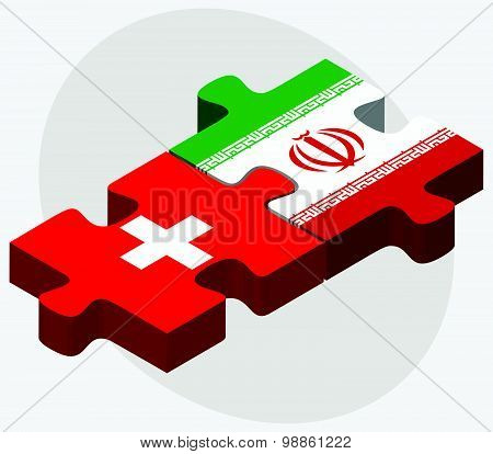 Switzerland And Iran Flags