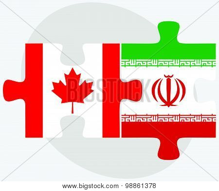 Canada And Iran Flags