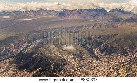View Over The City Of La Paz In Bolivia
