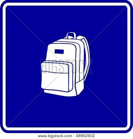 backpack sign