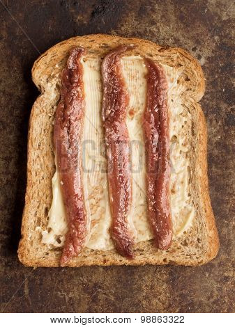 Rustic Anchovy Toast