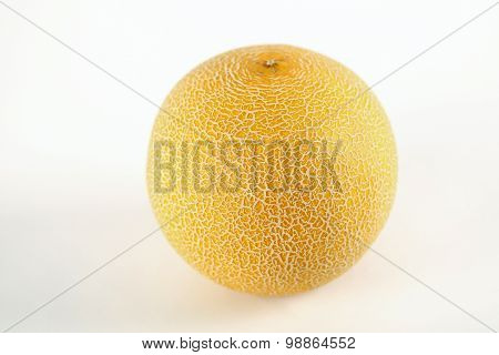 White Green Yellow Melon Full And Sliced Cantaloupe Isolated On White Background