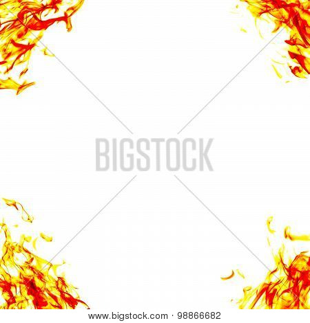 Burning Fire Flame On white Background