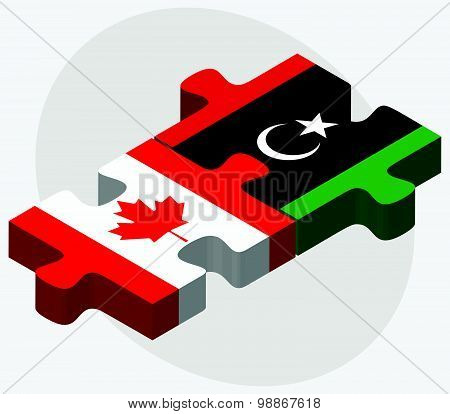 Canada And Libya Flags