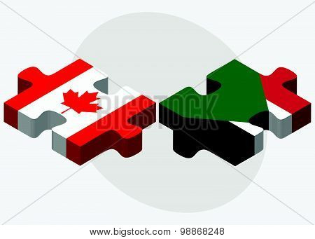 Canada And Sudan Flags
