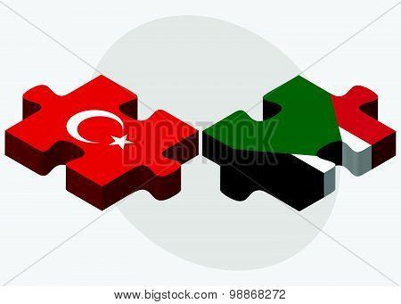 Turkey And Sudan Flags