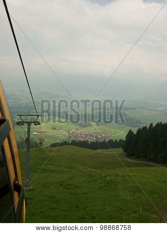 Ski Lift Oberstdorf In Summer