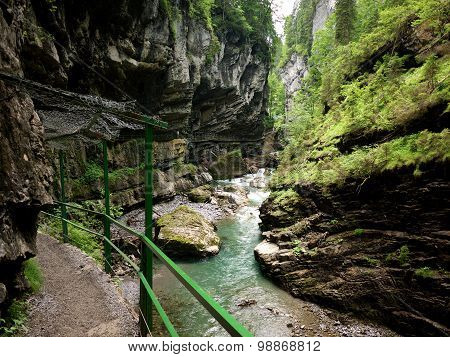 Footpath Through Breitachklamm, Germany