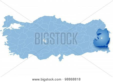 Map Of Turkey, Van