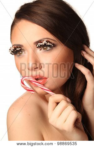 Woman With Lollypop