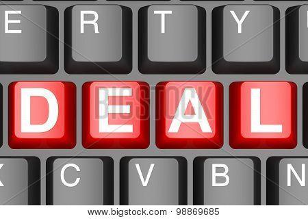 Deal Button On Modern Computer Keyboard