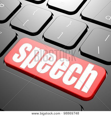 Keyboard With Speech Text