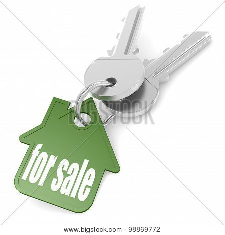 Keychain With For Sale Word
