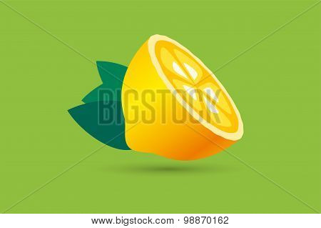 Lime or lemon fruit slice. Lemonade juice logo icon template design