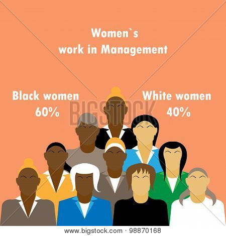 Business People Team Growth Infographic With In Percentage Of Work Business Lady In Management