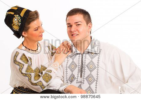 Romanian Folklore Clothes Traditional Couple