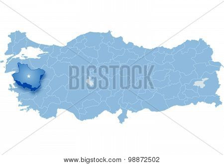 Map Of Turkey, Manisa