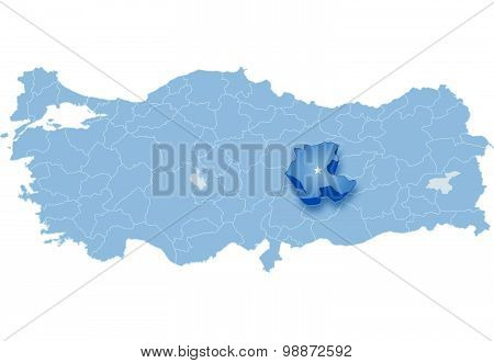 Map Of Turkey, Malatya