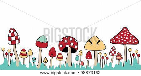 Mushroom Mixed Illustration Blank Note