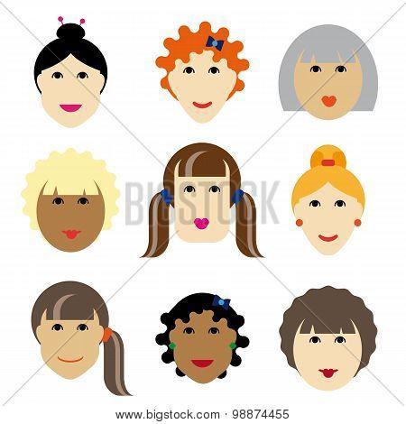 Set face women