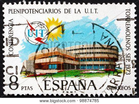 Postage Stamp Spain 1973 Conference Hall, Torremolinos