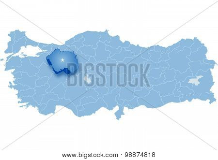 Map Of Turkey,  Eskisehir