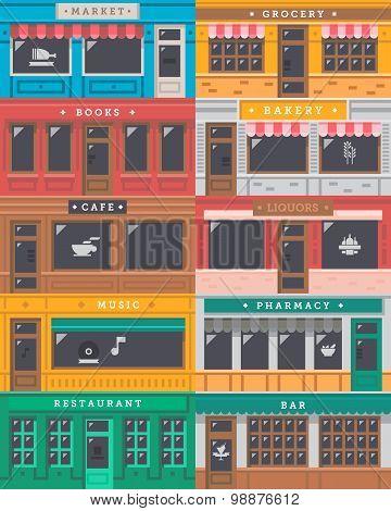 Front Shop Facade Set