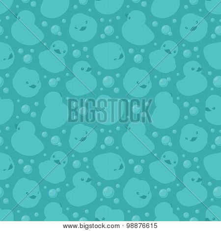 Seamless pattern with rubber ducks
