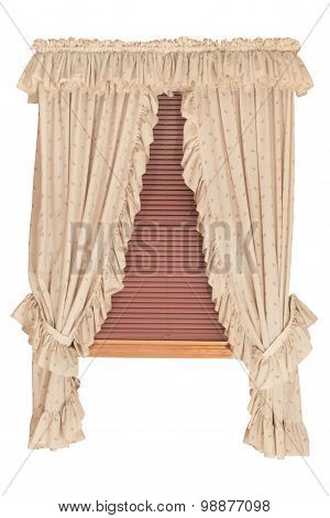 Window with Blinds, Isolated