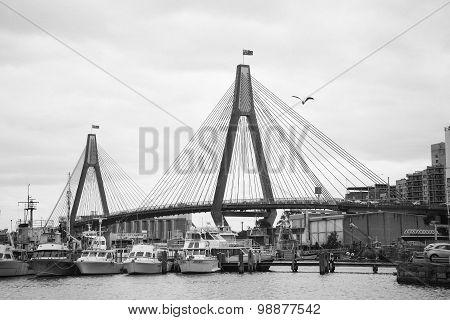 Anzac Bridge In Sydney, Australia