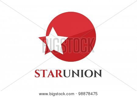 Star vector logo icon template. Leader, boss, winner, rank or ranking. Competition and sport shape. Star symbol. Star vector logo. Leader concept.