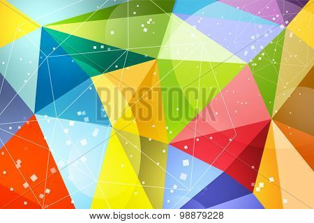 Abstract background design. Vector technology wallpaper. Technology background. Triangle pattern. Low poly shapes. Color geometric lines. Geometric art. Wallpaper pattern. Web net design