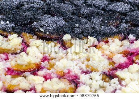 Macro Of Homemade Plum Cake