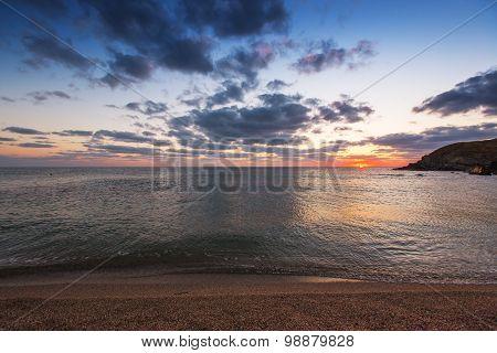 Dramatic Sunrise Over The Seashore
