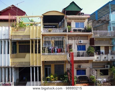 view of the houses of Phnom Penh. Cambodia