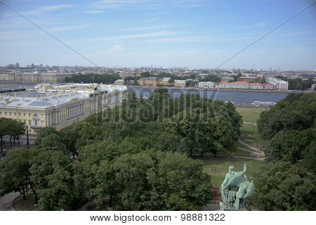 View Of St. Petersburg From The Viewing Point Of St. Isaac's Cathedral