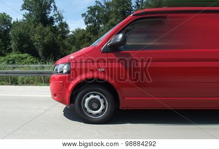 Minibus On The Road