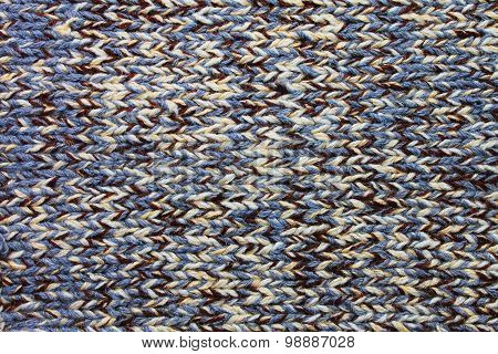 Handmade multicolor knitting wool texture background