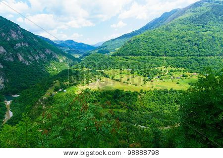 Tara River Landscape Near Mojkovac